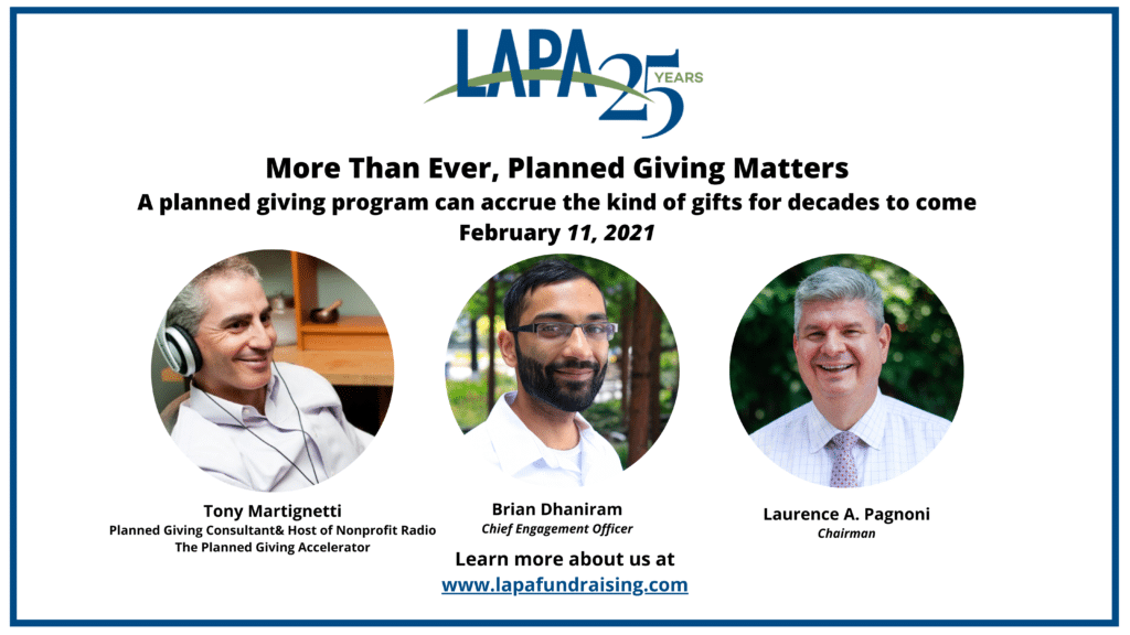 More Than Ever, Planned Giving Matters