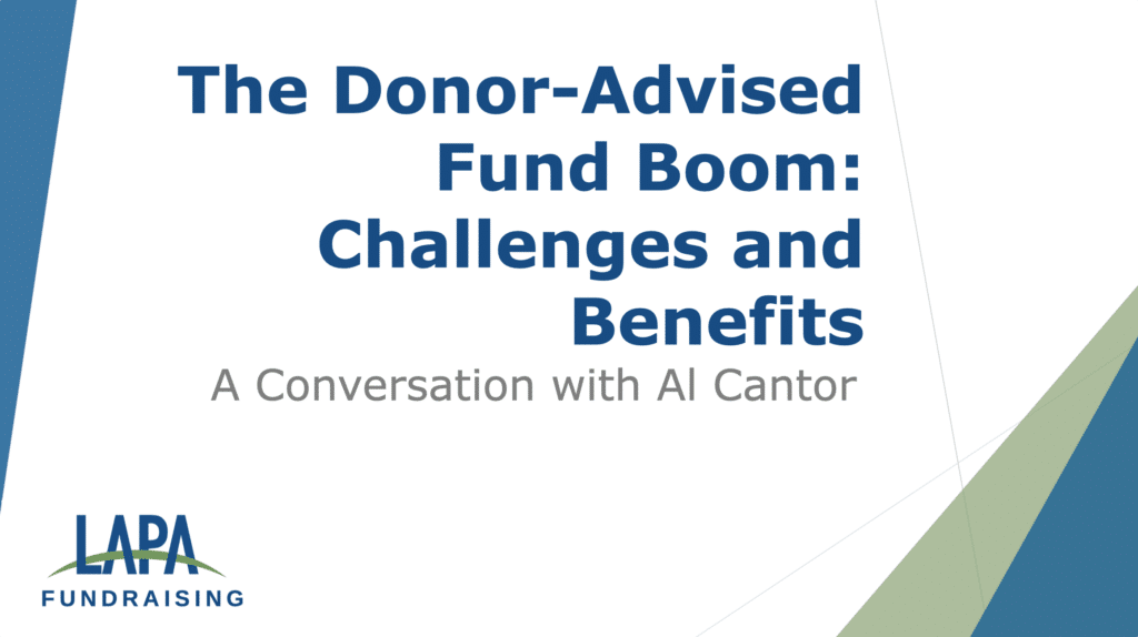 The Donor Advised Fund Boom, Challenges & Benefits: An Interview with Al Cantor